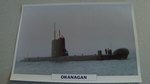 1966 Okanagan Canadian submarine warship framed picture